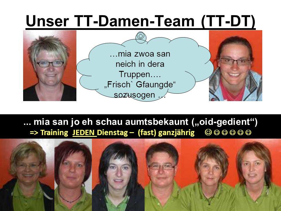 Unser TT-Damen-Team (TT-DT)