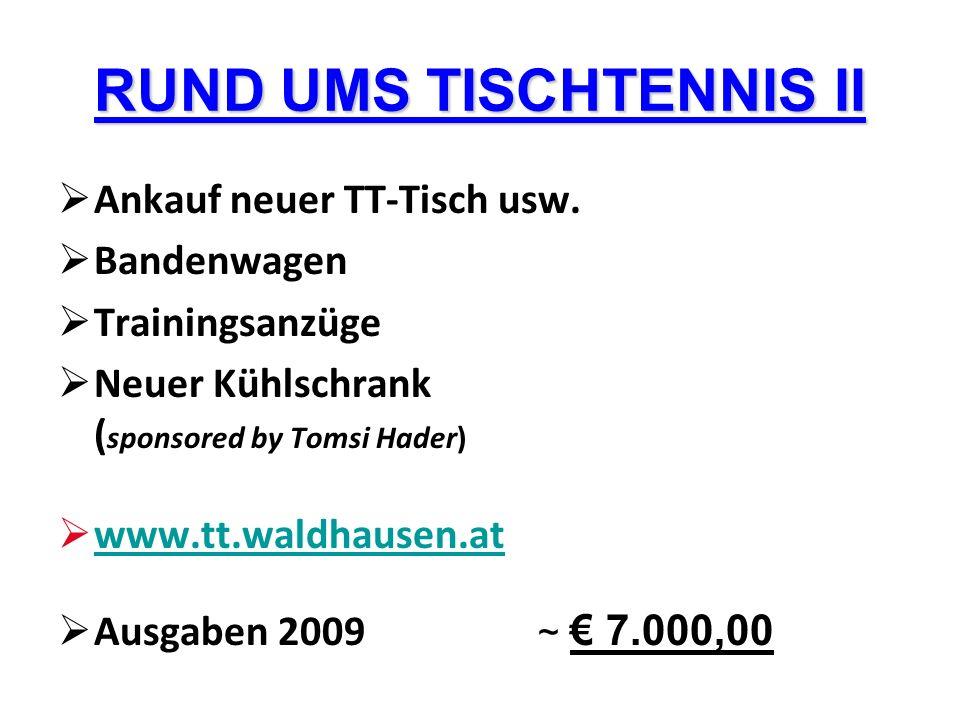 RUND UMS TISCHTENNIS II