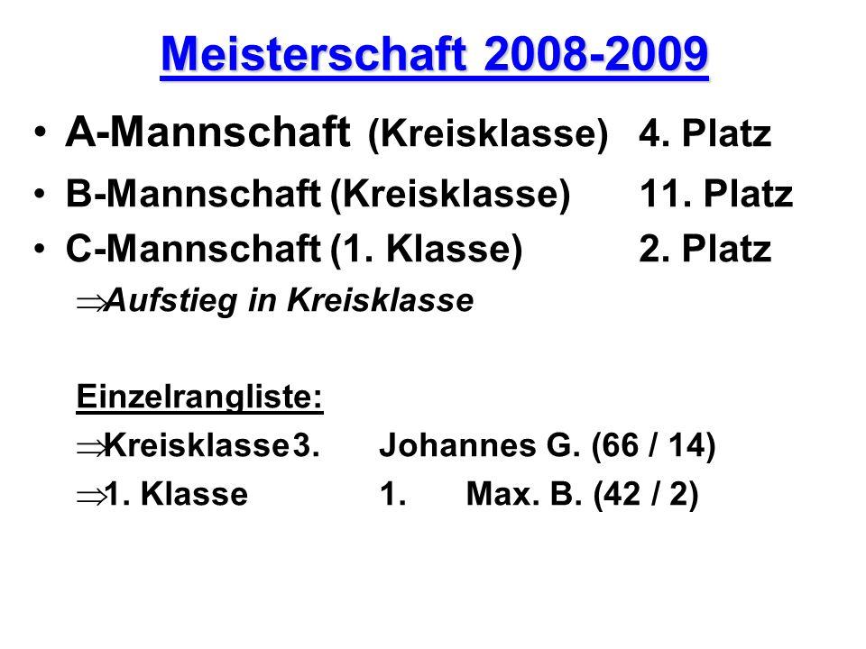 Meisterschaft 2008-2009 A-Mannschaft (Kreisklasse) 4. Platz