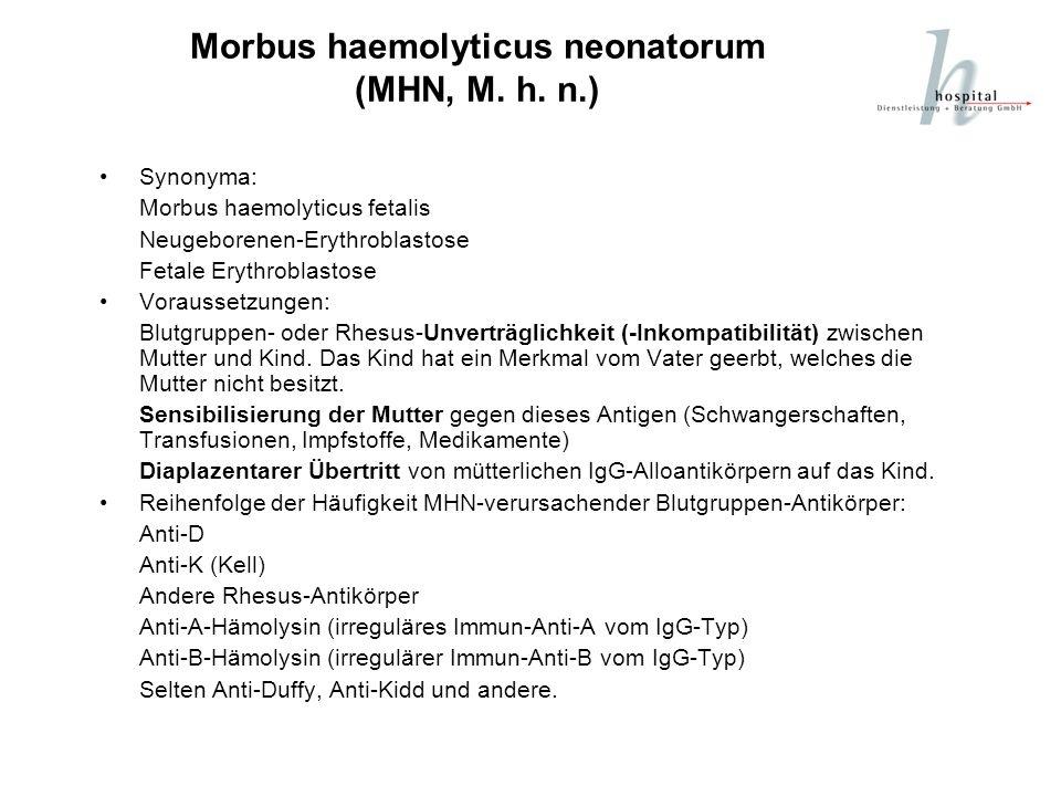 Morbus haemolyticus neonatorum (MHN, M. h. n.)
