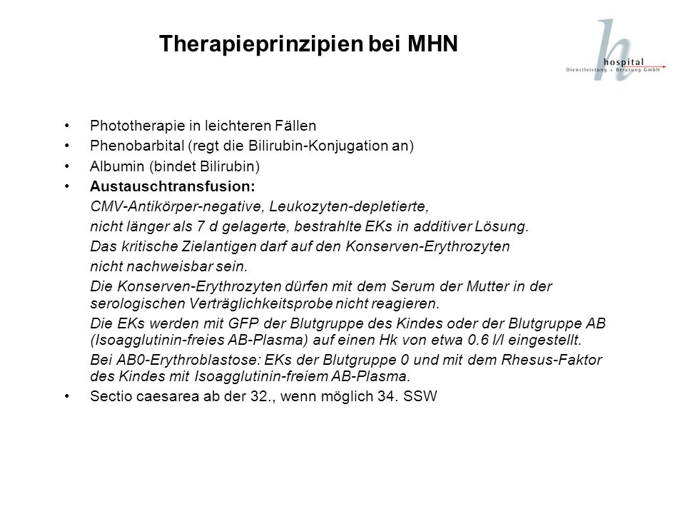 Therapieprinzipien bei MHN