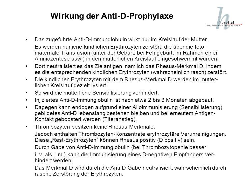 Wirkung der Anti-D-Prophylaxe