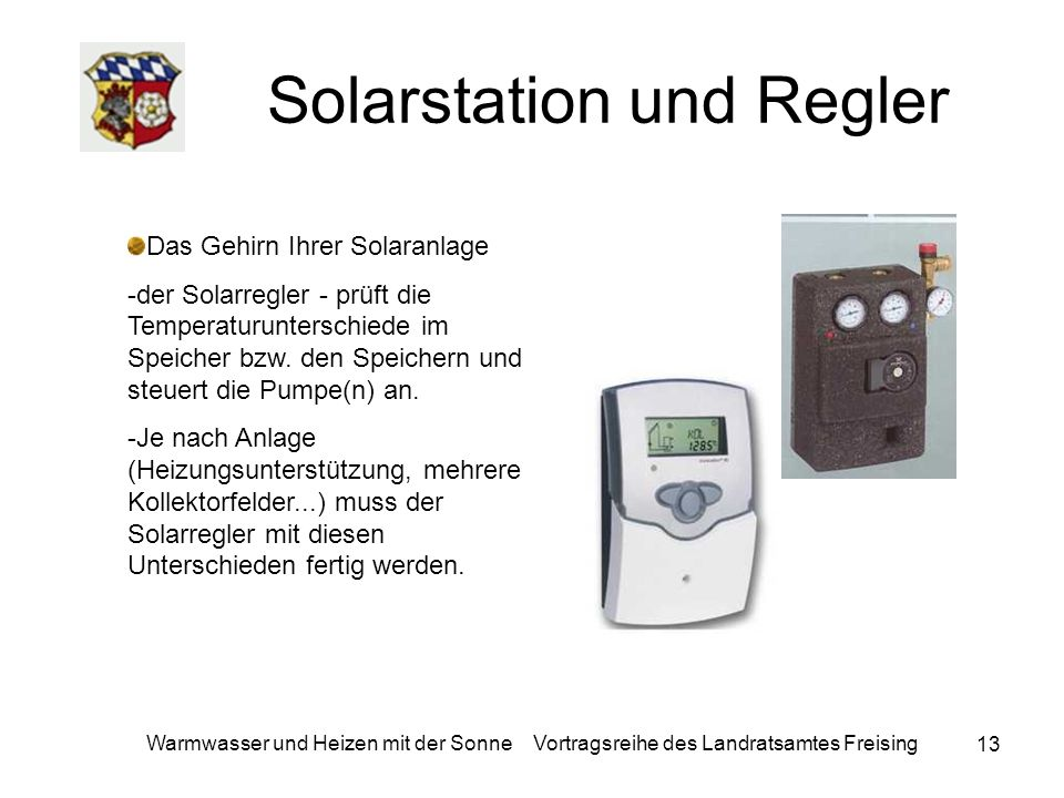 Solarstation und Regler