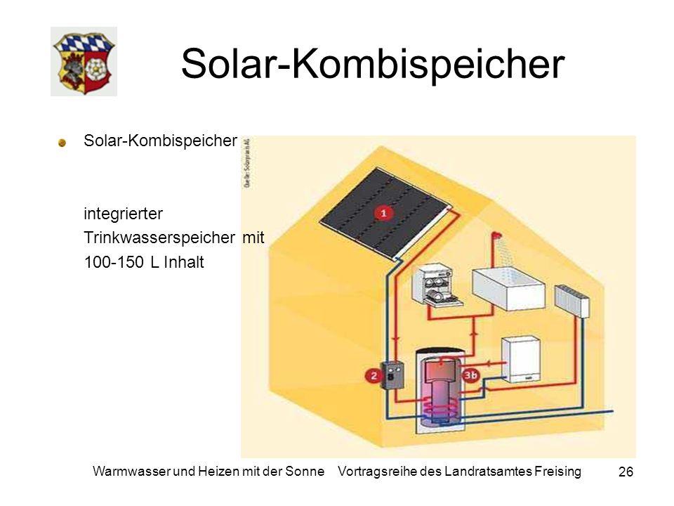 Solar-Kombispeicher Solar-Kombispeicher integrierter Trinkwasserspeicher mit 100-150 L Inhalt.