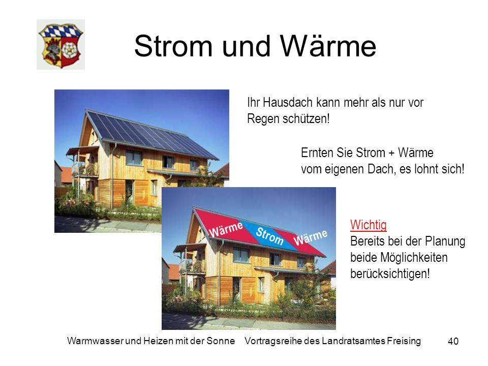Strom und Wärme Ihr Hausdach kann mehr als nur vor Regen schützen!