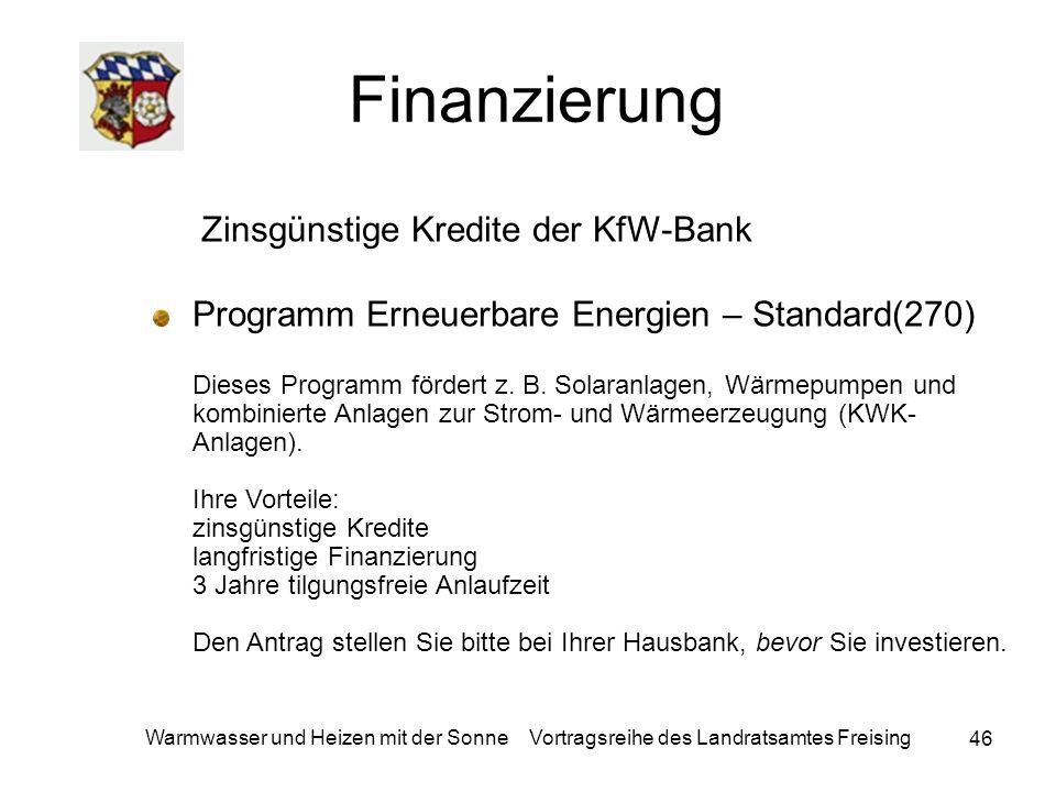 Finanzierung Zinsgünstige Kredite der KfW-Bank