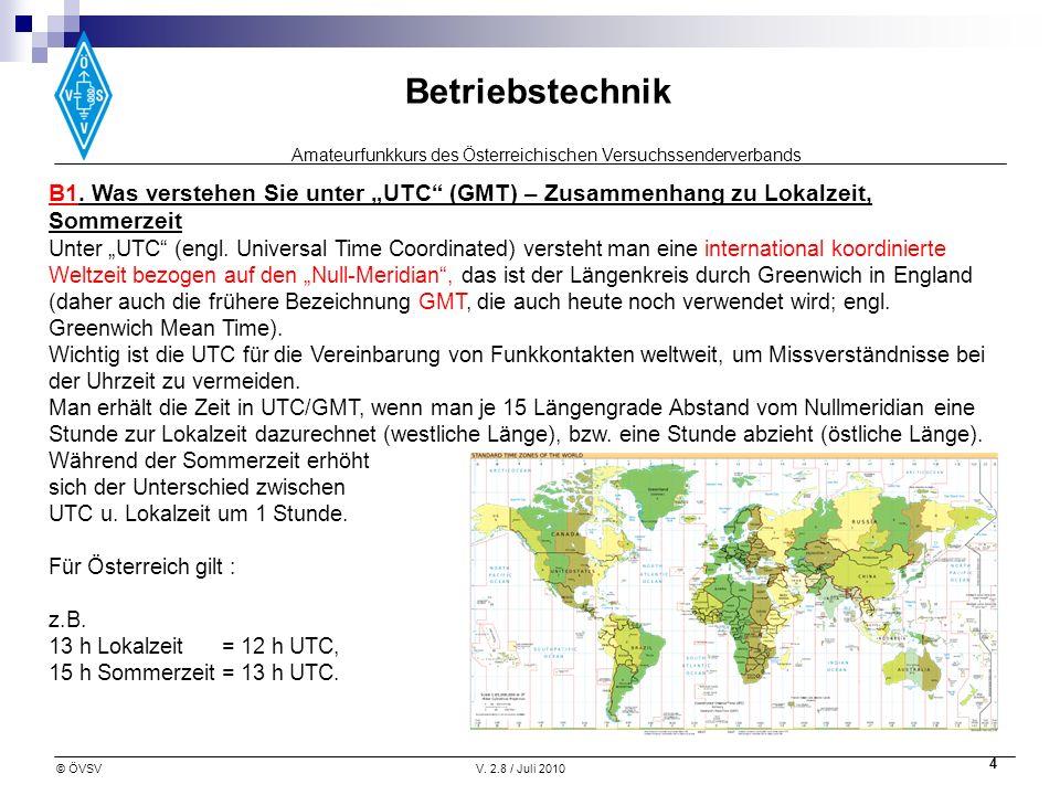 """B1. Was verstehen Sie unter """"UTC (GMT) – Zusammenhang zu Lokalzeit, Sommerzeit"""