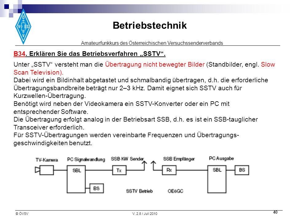 "B34. Erklären Sie das Betriebsverfahren ""SSTV ."