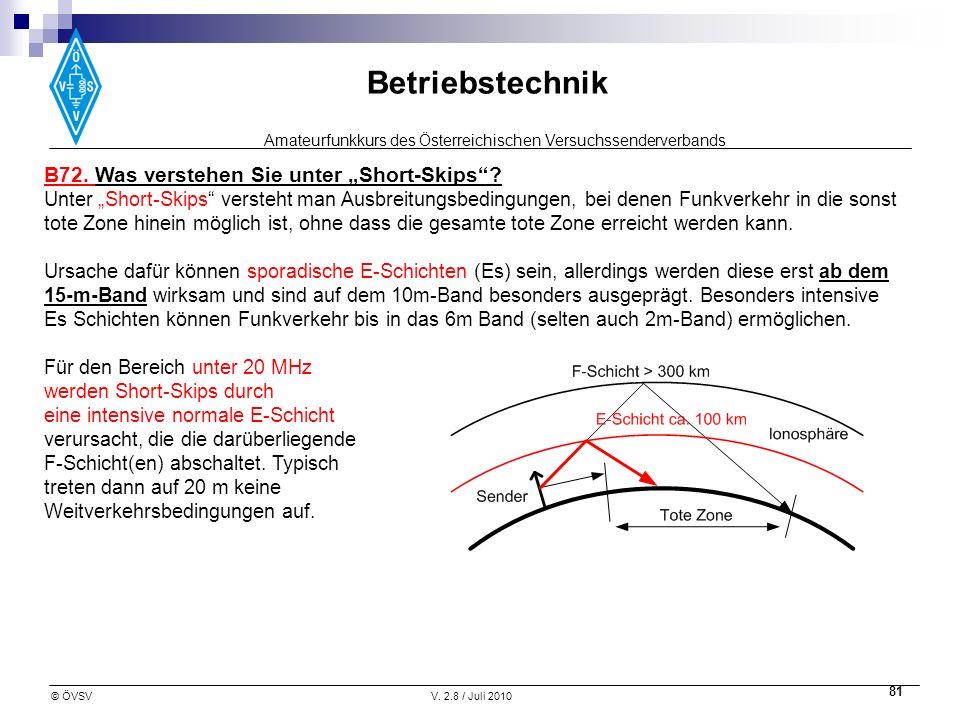 """B72. Was verstehen Sie unter """"Short-Skips"""