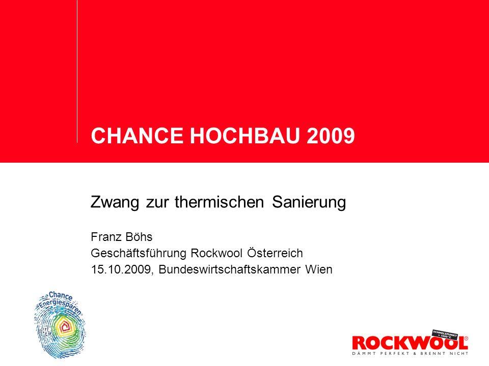 CHANCE HOCHBAU 2009 Zwang zur thermischen Sanierung Franz Böhs