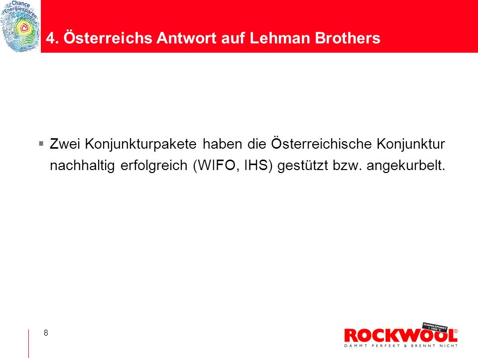 4. Österreichs Antwort auf Lehman Brothers
