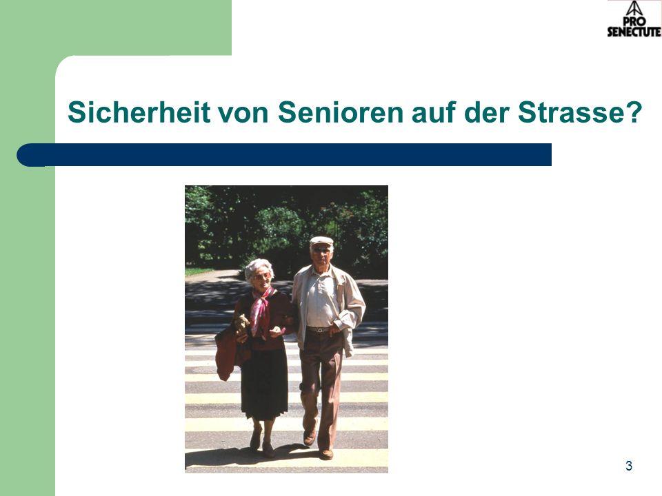 Sicherheit von Senioren auf der Strasse