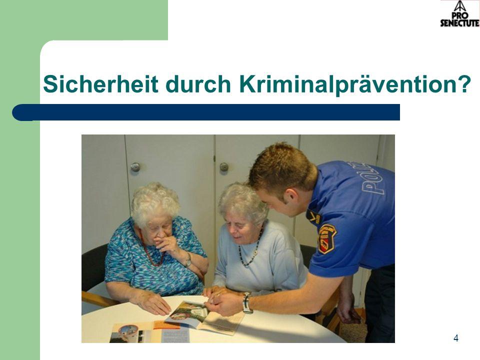 Sicherheit durch Kriminalprävention