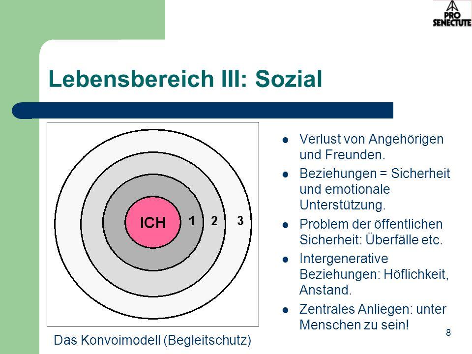 Lebensbereich III: Sozial
