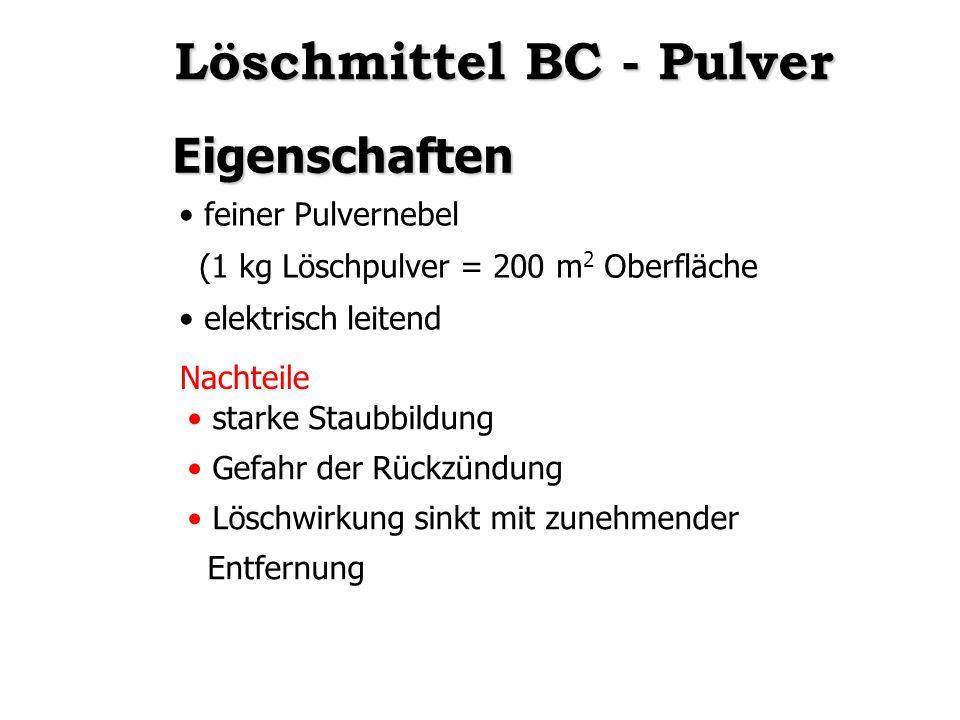 Löschmittel BC - Pulver