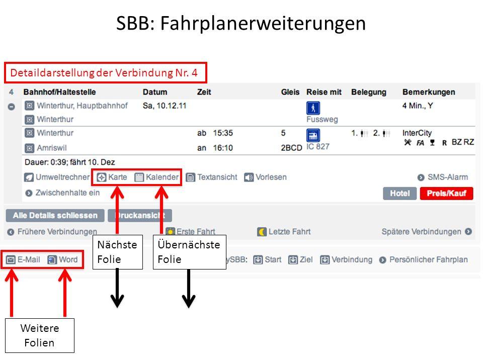 SBB: Fahrplanerweiterungen