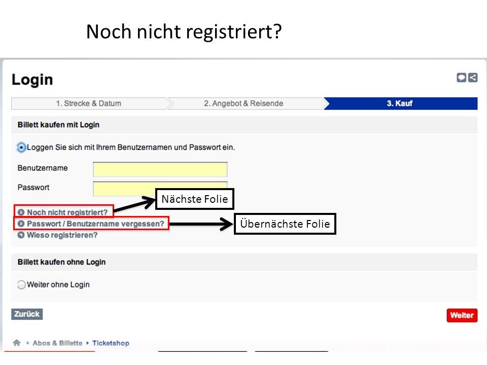 Noch nicht registriert