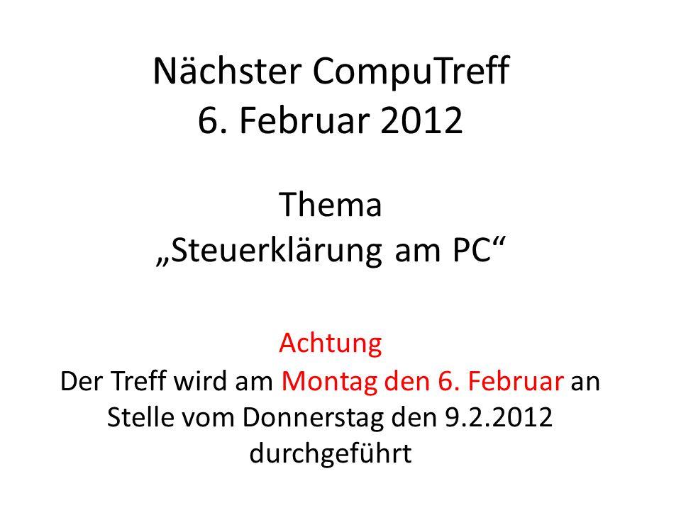 Nächster CompuTreff 6.