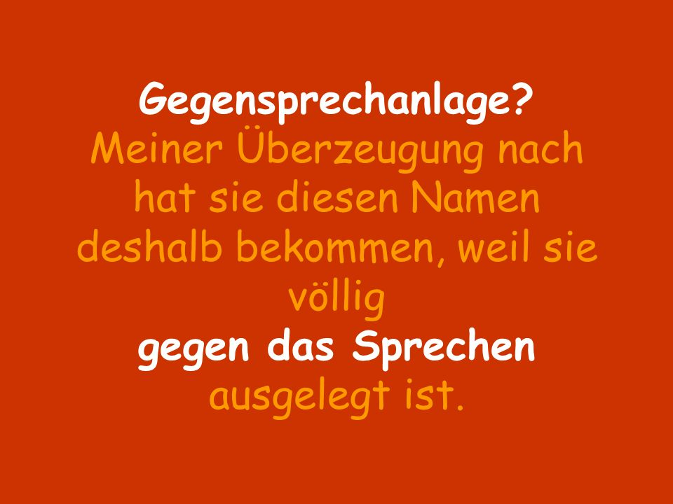 Gegensprechanlage.