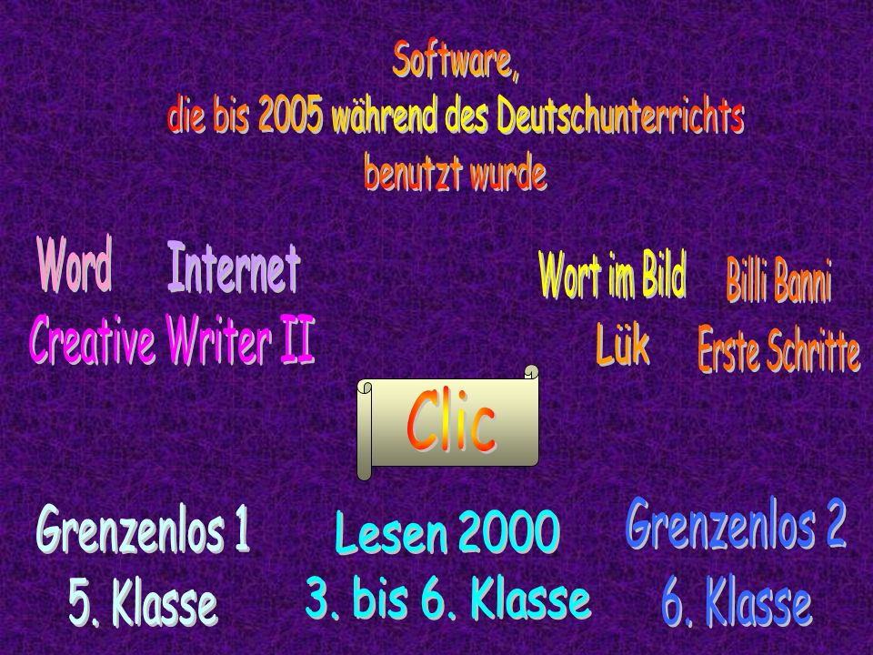 die bis 2005 während des Deutschunterrichts