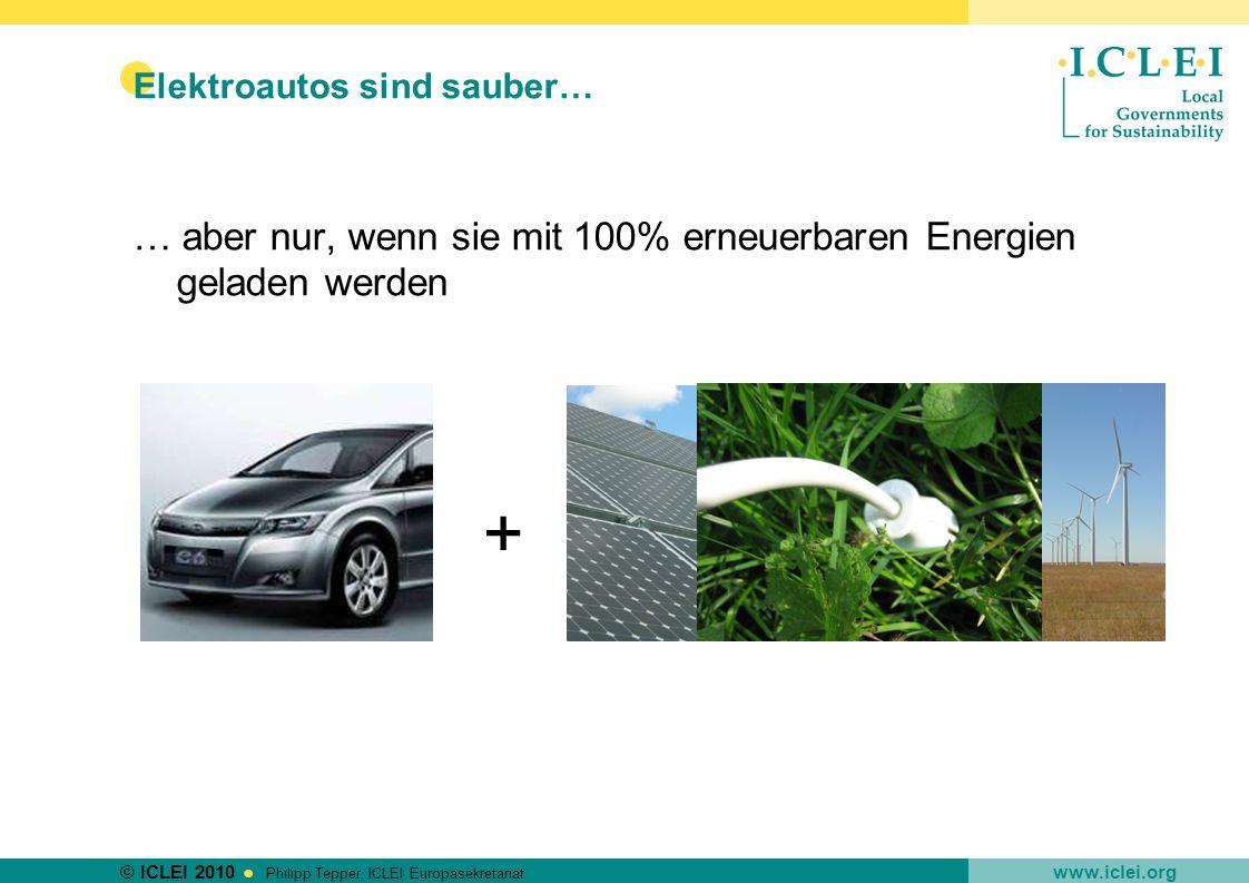 Elektroautos sind sauber…