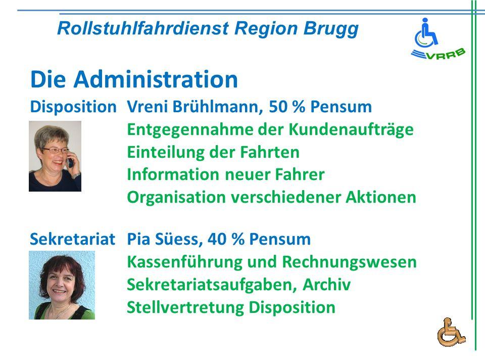 Die Administration Rollstuhlfahrdienst Region Brugg