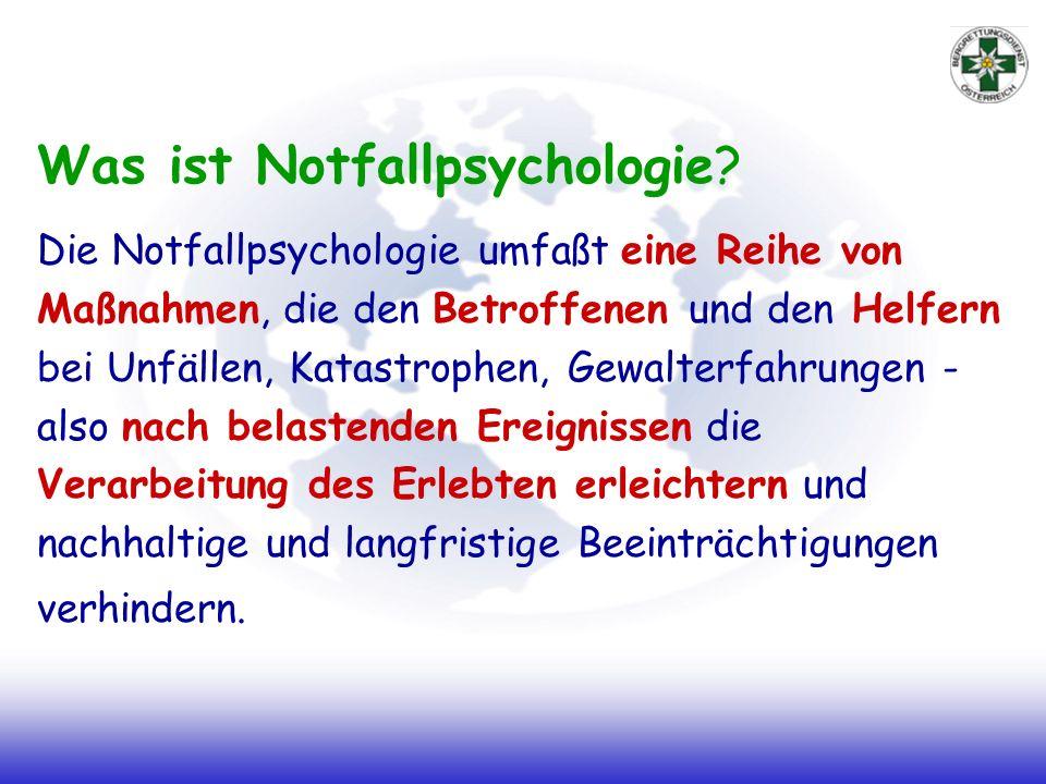 Was ist Notfallpsychologie