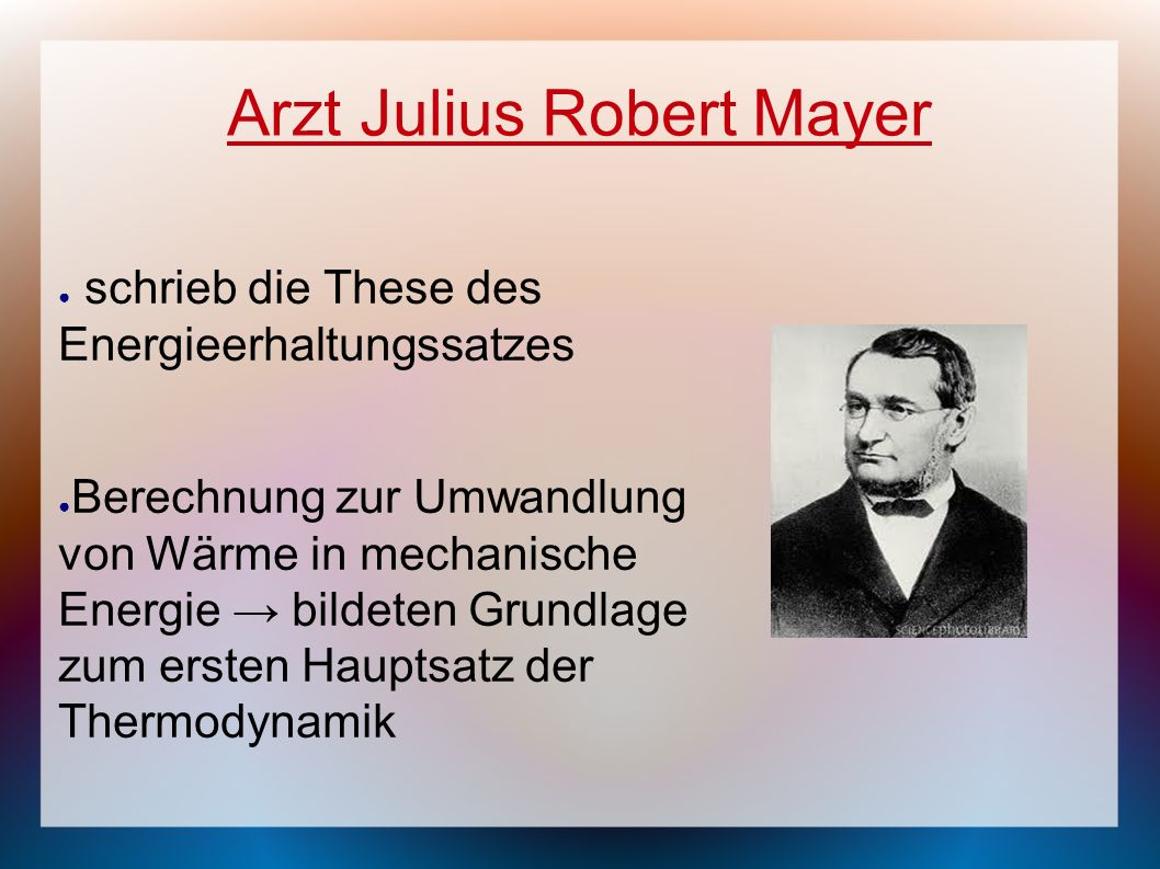 Arzt Julius Robert Mayer