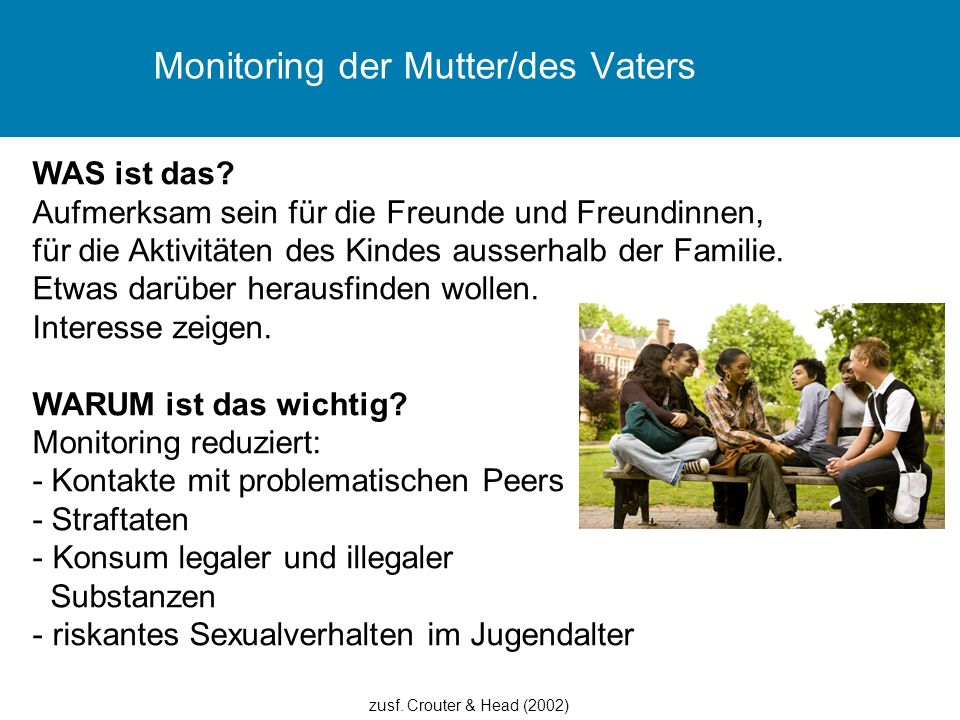 Monitoring der Mutter/des Vaters