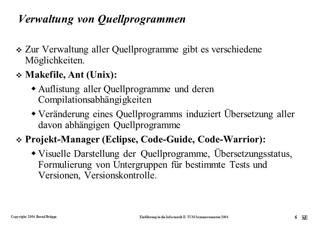 Verwaltung von Quellprogrammen