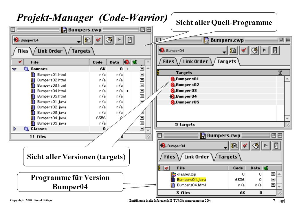 Projekt-Manager (Code-Warrior)