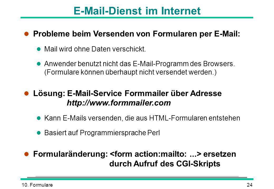 E-Mail-Dienst im Internet