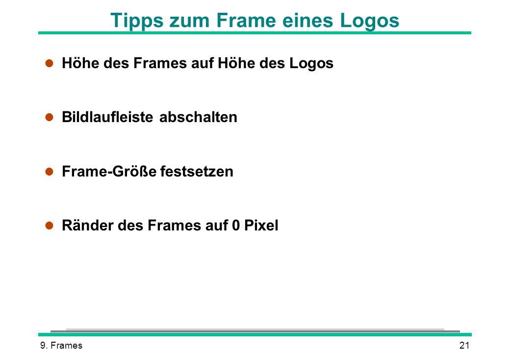 Tipps zum Frame eines Logos