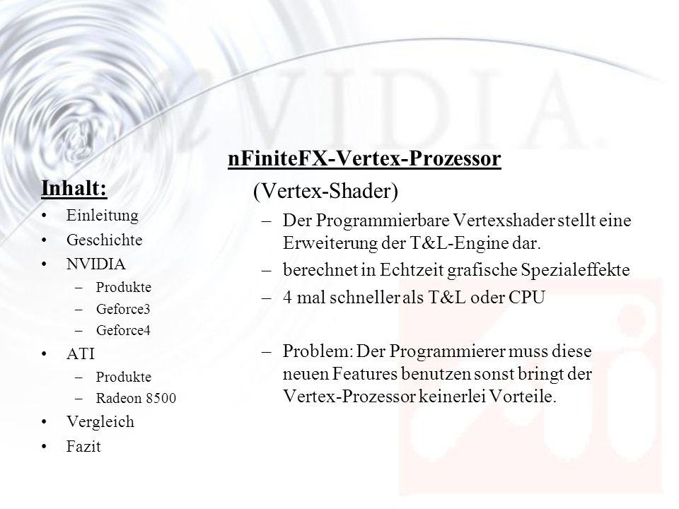 nFiniteFX-Vertex-Prozessor (Vertex-Shader) Inhalt: