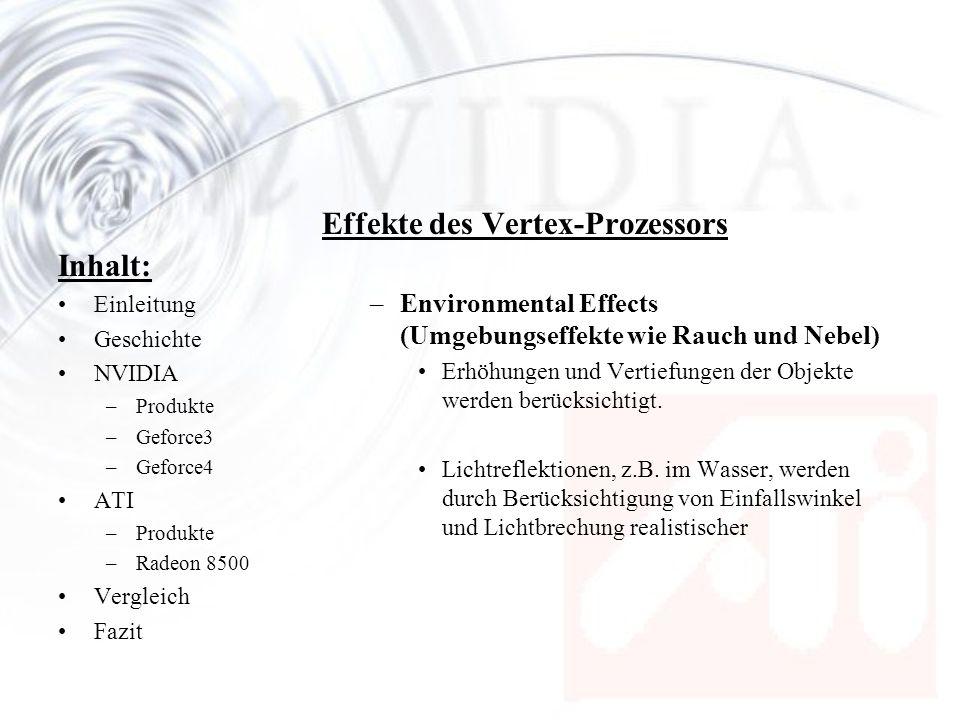Effekte des Vertex-Prozessors