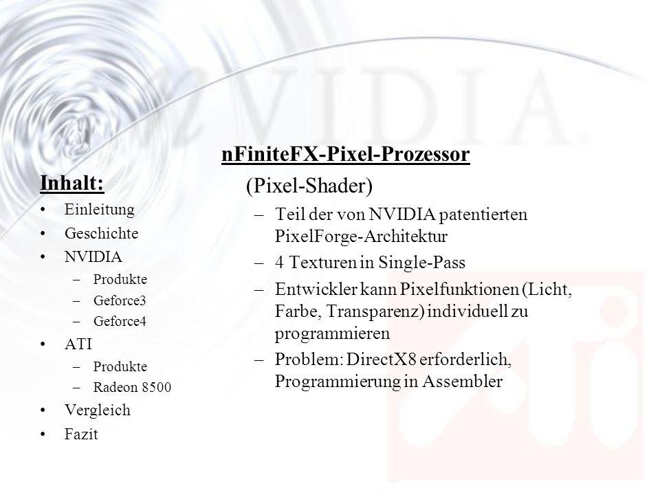 nFiniteFX-Pixel-Prozessor (Pixel-Shader) Inhalt: