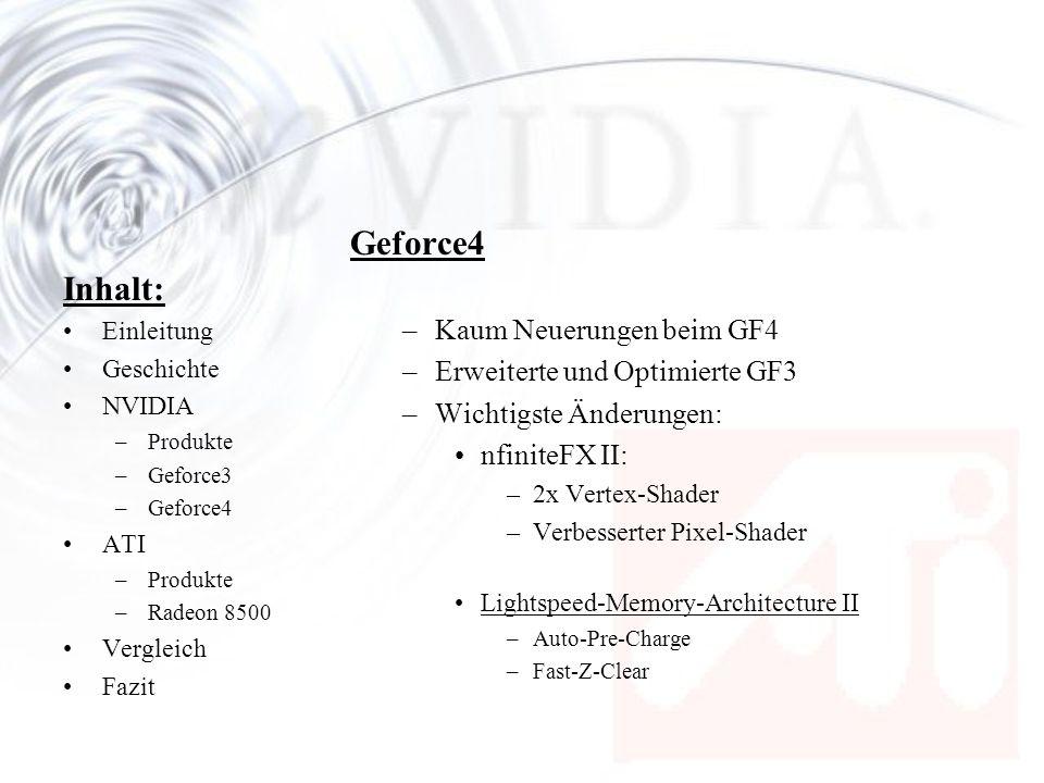 Geforce4 Inhalt: Kaum Neuerungen beim GF4