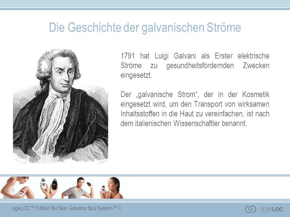 Die Geschichte der galvanischen Ströme