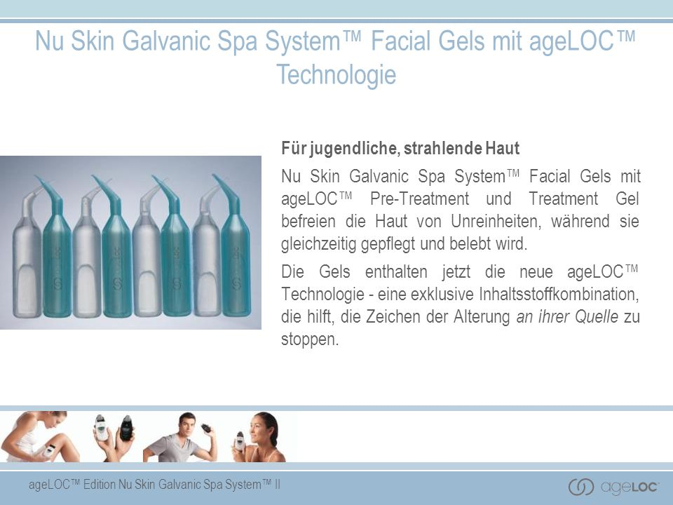 Nu Skin Galvanic Spa System™ Facial Gels mit ageLOC™ Technologie
