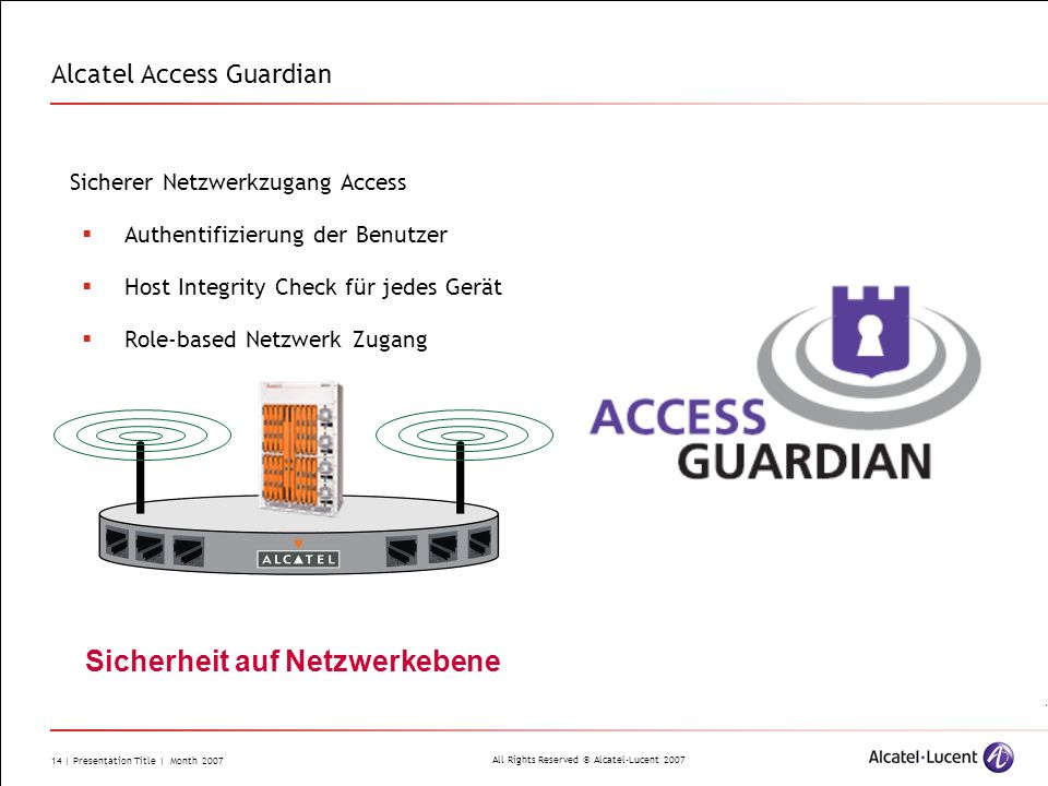Alcatel Access Guardian