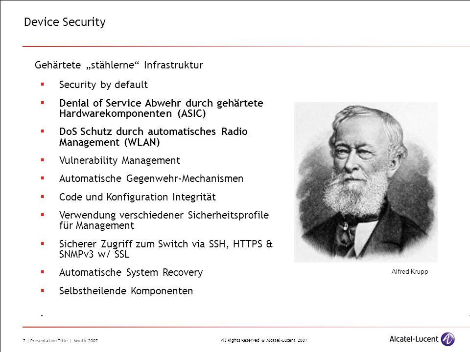 """Device Security Gehärtete """"stählerne Infrastruktur"""