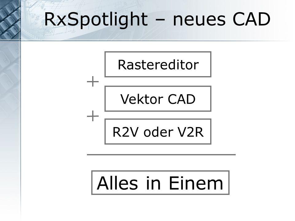 RxSpotlight – neues CAD