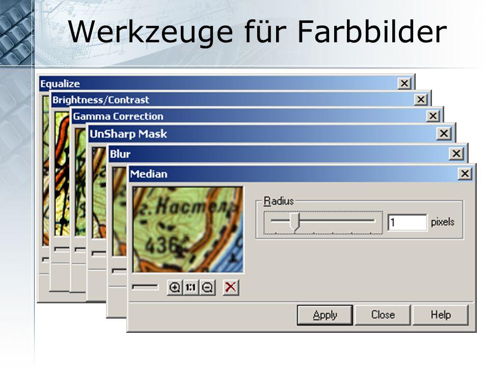 Werkzeuge für Farbbilder