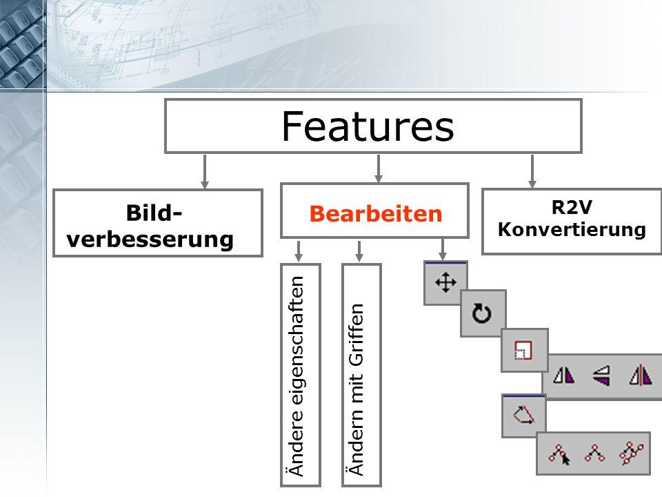 Features Bearbeiten Bild- verbesserung R2V Konvertierung