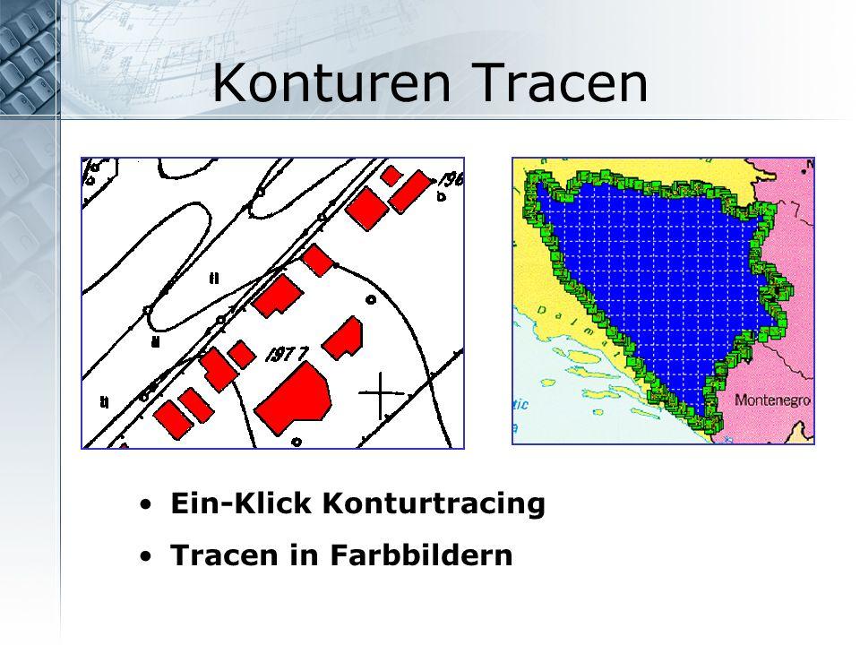 Konturen Tracen Ein-Klick Konturtracing Tracen in Farbbildern