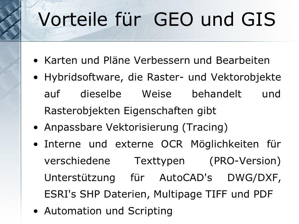 Vorteile für GEO und GIS