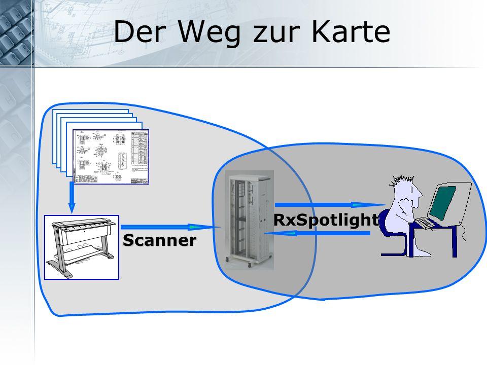 Der Weg zur Karte Scanner RxSpotlight