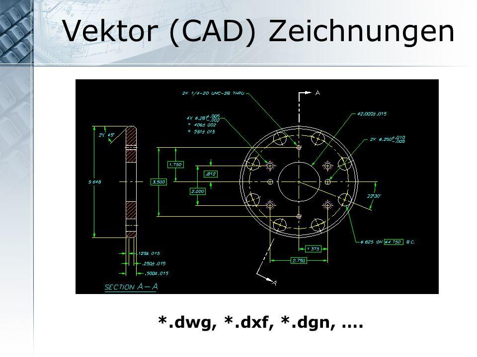 Vektor (CAD) Zeichnungen