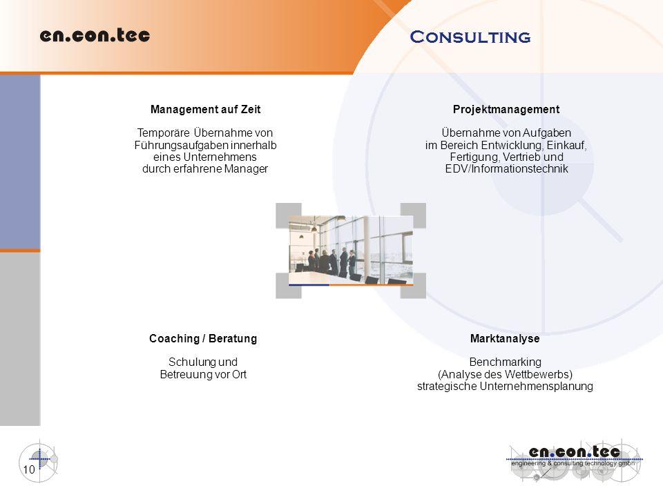 Consulting Management auf Zeit Temporäre Übernahme von
