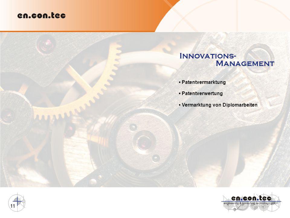 Innovations- Management • Patentvermarktung • Patentverwertung